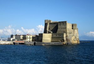 center of naples castel dell'ovo castle seafront